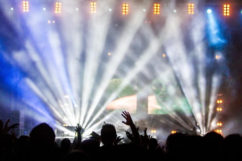 コンサート, パフォーマンス, 視聴者, ライトショー, 音楽, 祝賀会, ディスコ, 人, ダンス